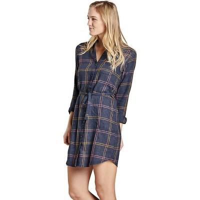 トードアンドコー ワンピース レディース トップス Toad & Co Women's Re-Form Flannel Shirtdress True Navy