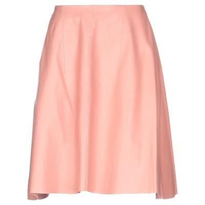 NINA RICCI ひざ丈スカート パステルピンク 38 羊革(ラムスキン) 100% ひざ丈スカート