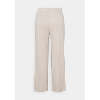 ピーシーズ プティ カジュアルパンツ レディース ボトムス PCLEODA WIDE PANT - Trousers - birch/melange