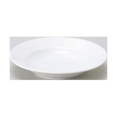 ベーシック ホワイト リム玉 22cm 深皿 プレート Basic 10枚入 /業務用/新品