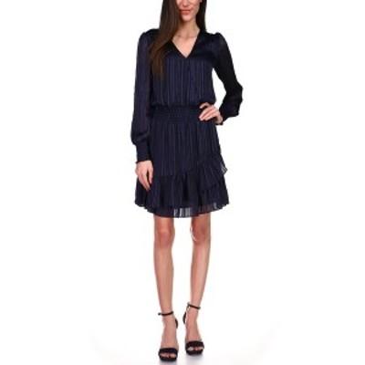 マイケルコース レディース ワンピース トップス Smocked A-Line Dress Midnight Blue