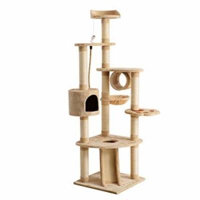 キャットタワー 猫タワーキャットタワー 猫タワー 大型猫 ネコタワー 天然 (中古品)