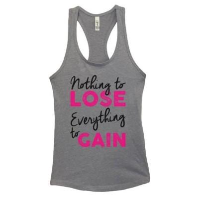 レディース 衣類 トップス Women's Funny Workout Tank Top Nothing to Lose Everything to Gain Funny Threadz(R) Small Heather Grey