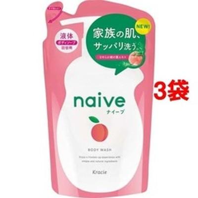 ナイーブ ボディソープ 桃の葉エキス配合 詰替用 (380ml*3コセット)