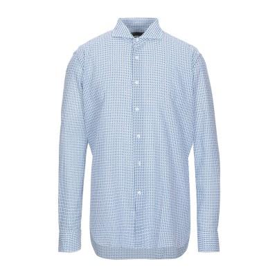 THOMAS MASO シャツ ブルー 45 コットン 55% / リネン 45% シャツ