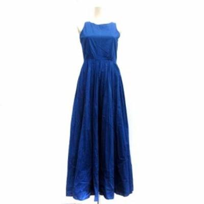【中古】マリハ MARIHA 19SS ワンピース 夏のレディのドレス ロング ノースリーブ 青 ブルー /TK レディース