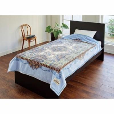 【送料無料!】日本製 ニッケ アクリル ニューマイヤー毛布 NK718131 シングルサイズ 140x200cm ブルー