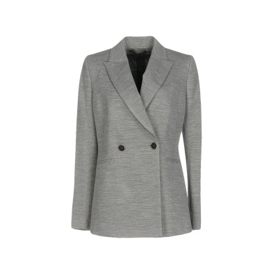 JANICE テーラードジャケット グレー 42 ポリエステル 48% / ウール 34% / ナイロン 18% テーラードジャケット
