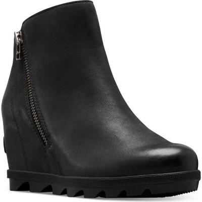 ソレル Sorel レディース ブーツ ブーティー ウェッジソール シューズ・靴 Joan Of Arctic Wedge Zip Booties Black