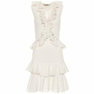 ロベルト カヴァリ Roberto Cavalli レディース パーティードレス ワンピース・ドレス Cotton-blend minidress Natural White