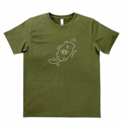 デザインTシャツ おもしろ ゆるラッコ カーキー