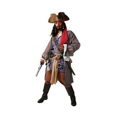 Supreme Pirates of The Caribbean Captain Jack Costume Small Red,White[並行輸入品]