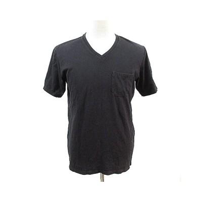 【中古】ナノユニバース nano universe Anti Soaked Tシャツ カットソー 半袖 Vネック XL 黒 ブラック /AAM33 メンズ 【ベクトル 古着】