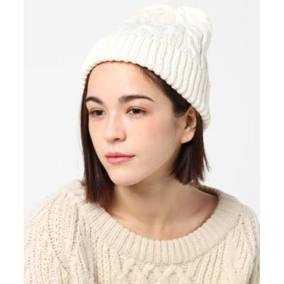 FUNALIVE / 【JABURO / ジャブロ】ケーブルニットキャップ ACRYL CABLE WATCH WOMEN 帽子 > ニットキャップ/ビーニー