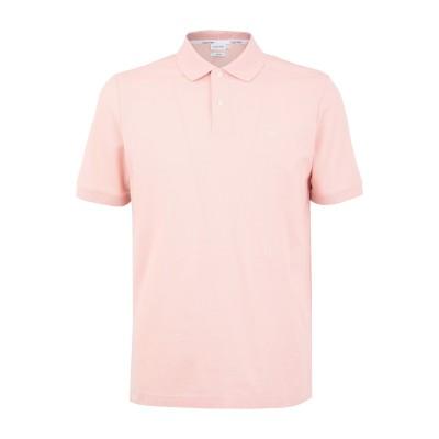 カルバン クライン CALVIN KLEIN ポロシャツ ピンク S コットン BCI 100% ポロシャツ