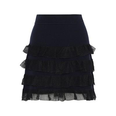 DEREK LAM 10 CROSBY ひざ丈スカート ダークブルー S ウール 89% / ポリエステル 6% / コットン 5% ひざ丈スカート