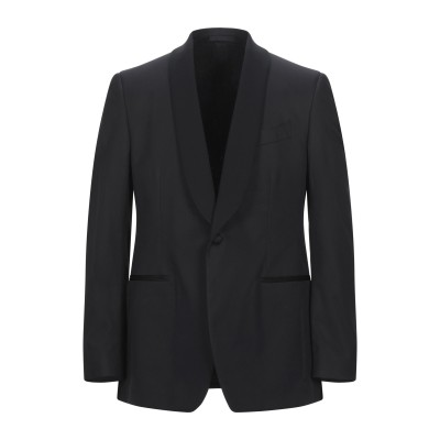 ラルディーニ LARDINI テーラードジャケット ブラック 52 コットン 100% テーラードジャケット