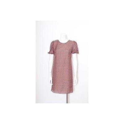 レディース ドレス・ワンピース ソラーロンドン SOLER デザインS レッド/ブラックホワイト プリントED BALLOON スリーブ ドレス サイズ スモール