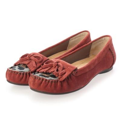 シューズラウンジ アウトレット shoes lounge OUTLET リボンフラットシューズ 2510674DRED (ダークレッド)