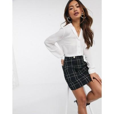 ミス セルフリッジ Miss Selfridge レディース ブラウス・シャツ トップス dobby tie front shirt in white ホワイト