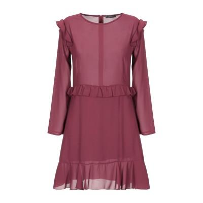 SOALLURE ミニワンピース&ドレス ボルドー 42 ポリエステル 100% / レーヨン / ポリウレタン ミニワンピース&ドレス