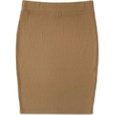 バースリー Bar III レディース ひざ丈スカート スカート Ribbed-Knit Pencil Skirt Brown Smoke