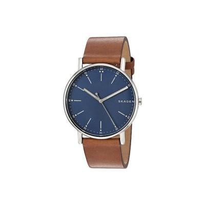 スカーゲン 腕時計 アクセサリー メンズ Signatur Three-Hand Men's Watch SKW6355 Silver Brown Leather