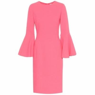 オスカー デ ラ レンタ Oscar de la Renta レディース ワンピース ワンピース・ドレス Stretch-wool midi dress Hibiscus