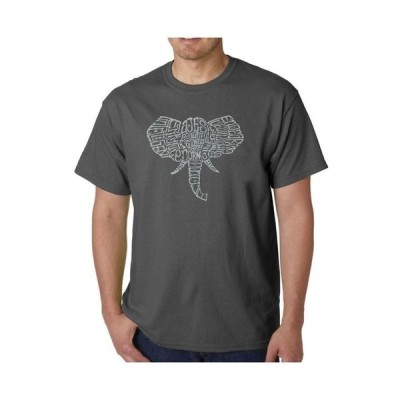 エルエーポップアート メンズ Tシャツ トップス Mens Word Art T-Shirt - Elephant Tusks