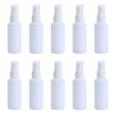 【送料無料】スプレーボトル 12本セット 詰替ボトル 白 空容器 霧吹き 化粧品は分けて瓶 旅行用 PETボトル 50ml