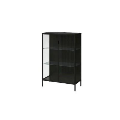 IKEA イケア RUDSTA ルードスタ コレクションケース  ガラス キャビネット チャコール 80x37x120 cm