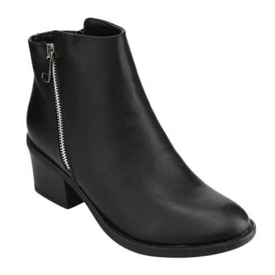 ブーツ シューズ 靴 海外厳選ブランド Reneeze PAMA-02-AR レディース ジッパー Stacked Chunky ハイヒール アンクルブーティーs BLACK