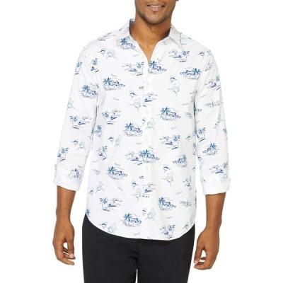 ノーティカ Nautica メンズ シャツ トップス Classic-Fit Oxford Printed Shirt ブライトホワイト