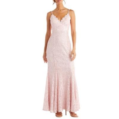 モルガン レディース ワンピース トップス Women's Sleeveless Lace Mermaid Dress