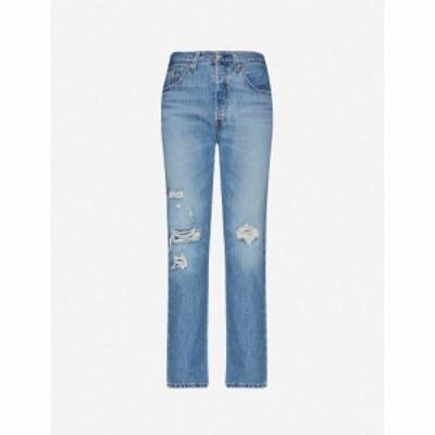 リーバイス LEVIS レディース ジーンズ・デニム ボトムス・パンツ 501 cropped straight high-rise jeans Sansome Light