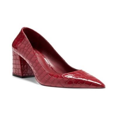 ヴィンスカムート パンプス シューズ レディース Women's Frittam Pointed-Toe Block-Heel Pumps Red Croco