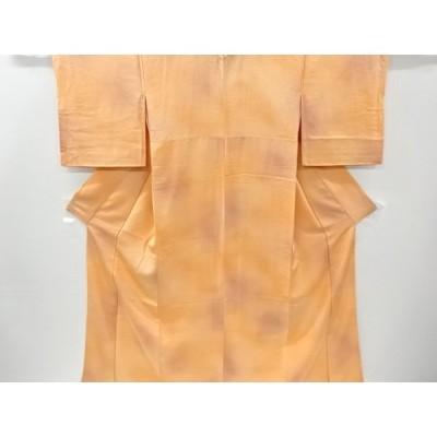 宗sou 青海波模様織り出し暈し付け下げ色無地着物【リサイクル】【着】