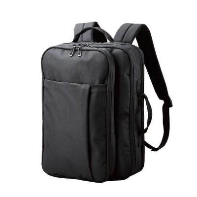 エレコム リュック バックパック ビジネスバッグ 15.6インチ 2way ポリエステル ポケット×3 ブラック メーカー在庫品