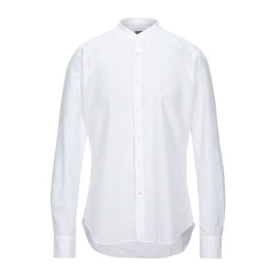 XACUS シャツ ホワイト 42 コットン 80% / リネン 20% シャツ