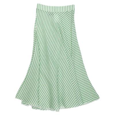 HISTORY REPEATS ロングスカート グリーン 42 コットン 62% / シルク 21% / アクリル 17% ロングスカート