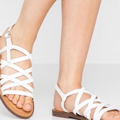 レディース サンダル Sandals - white