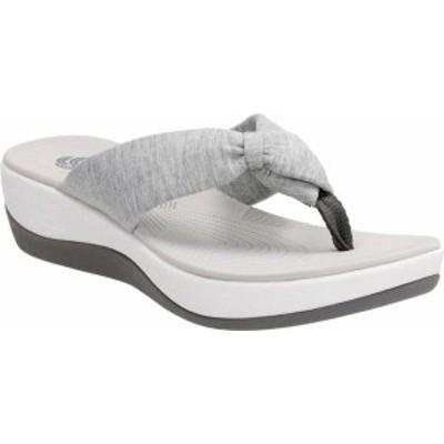クラークス レディース サンダル シューズ Women's Clarks Arla Glison Thong Sandal Grey Heather Fabric