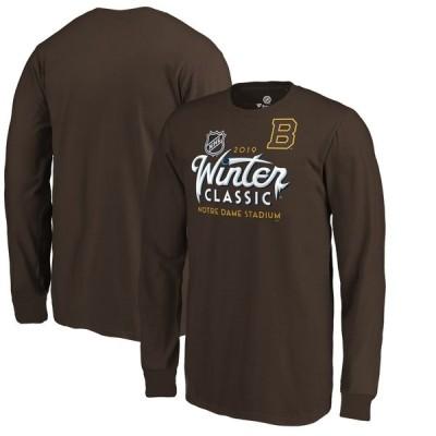 ボストン・ブルーインズ Fanatics Branded Male Youth 少年用 2019 Winter Classic Long Sleeve T-シャツ - Brown