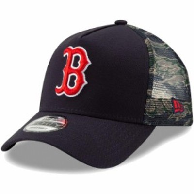 New Era ニュー エラ スポーツ用品  New Era Boston Red Sox Navy Stadium Collection Trucker Wild 9FORTY Snapback Hat