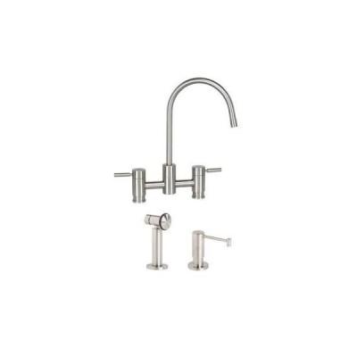 Waterstone 7800-2-CH Parche Bridge Faucet 2pc. Suite Polished Chrome