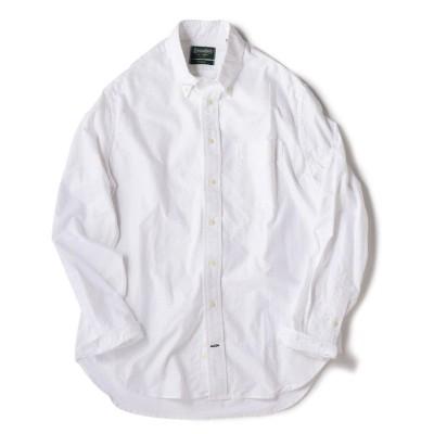 【シップス】 GITMAN VINTAGE: オックスフォード ボタンダウン シャツ メンズ ホワイト LARGE SHIPS
