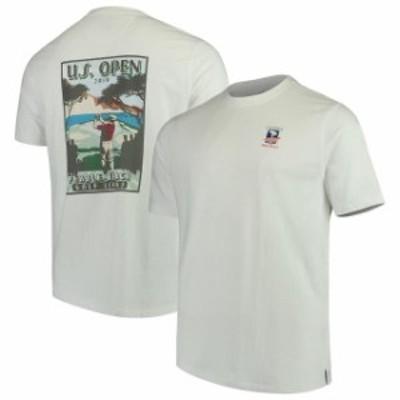 Ahead アヘッド スポーツ用品  Mens 2019 U.S. Open Ahead White Forecastle T-Shirt
