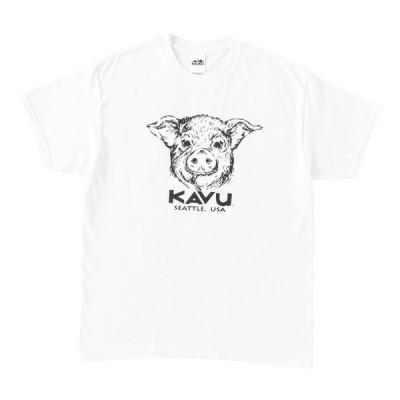 アウトドアシャツ KAVU 21春夏 Pig Tee(ピッグ Tシャツ) M ホワイト