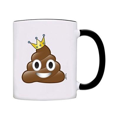owndis King of Poo Poop絵文字コーヒーマグ ブラック 0084-2輸入品