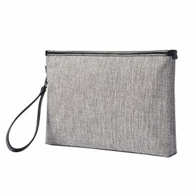 Whatna セカンドバッグ メンズ クラッチ バッグ 帆布 A4 ファイルバッグ 封筒袋 手持ちバッグ ビジネス カジュアル フォーマル 結婚式バ